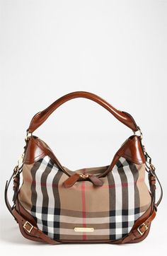 Burberry 'House Check - Small' Hobo available at #Nordstrom