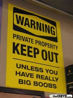 Funny keep out sign