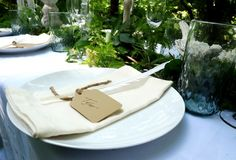 White Wedding Table + Greenery Centerpiece | from Two Sisters Event Design