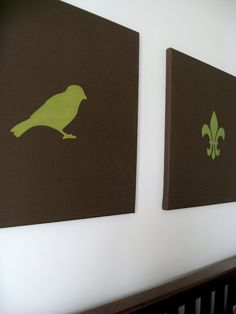 DIY Canvas Art {tweet tweet}