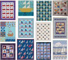 free pattern, sailboat quilt, quilt patterns, quilt inspir
