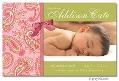 Paisley birth announcement