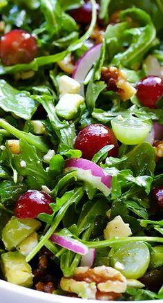 Melon Arugula Salad with Honey Lime Dressing   Recipe
