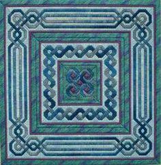 Lavenderblue Celtic Knot Quilt