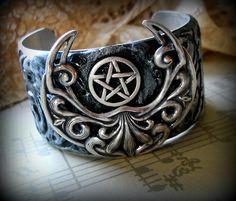 sterling pentacle bracelet