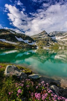 Beautiful walking tours in the Austrian alps are always a great idea  #austria #alps #mountains #blue #lake #nature #summer #flowers