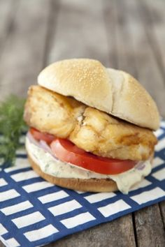 Fried Halibut Sandwich