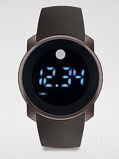 Movado Bold Dual-Time Digital Watch