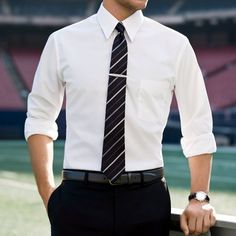 "Stop buying ""small, medium, and large"" dress shirts. | 16 Ways To Dress Like A Grown Man"