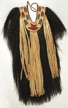 Japanese rain cape made of bast fibers and cotton.. MOMA collection