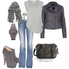 """""""Grey Ideas"""" by mandys120 on Polyvore"""