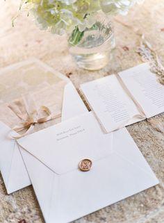 wax sealed wedding invitations