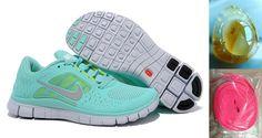 Shop Womens Nike Free Run 3 Mint Green Shoes New 2013 Sneakers