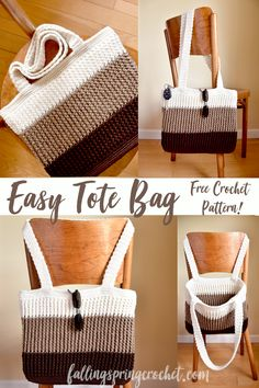 Falling Spring Crochet Easy Tote Bag Crochet Pattern