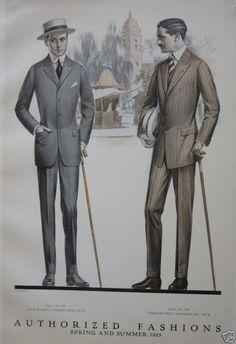"""More men's """"sack suits,"""" 1915."""
