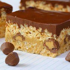 butter krispi, peanut butter fudge, peanuts, food, rice krispies, krispie treats, tripl peanut, krispi treat, chocolate peanut butter