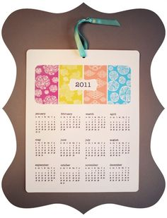 sweet little diy calendar
