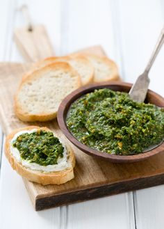 Arugula Pistachio Pesto and goat cheese.. how can u go wrong.. must try