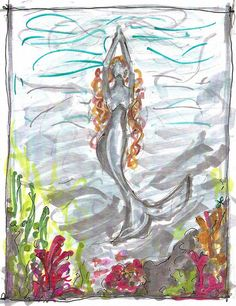 She draws her power from the ocean, as all her sisters do, and her inner strength in turn gives life to the waters.