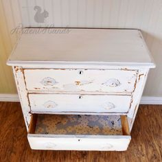 painted dresser, in