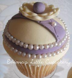 Pearls & Flowers  Cake by Emmas_Cupcakery pearl, mini cake, flower cakes