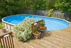 above ground pool deck landscaping ideas