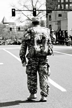 Soldier at the Boston marathon. Wore 40 pound packs and still helped save lives!!!