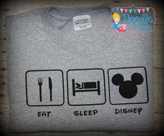 Eat Sleep Disney shirt by oDoodleBugDesigns on Etsy, $20.00