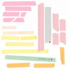 Free Clip Art: Tape Strips