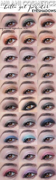 Milani Cosmetics | Bella Eyes Gel Powder Eyeshadows - www.mynewestaddiction.com
