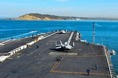 SAN DIEGO (April 8, 2014) The aircraft carrier USS Ronald Reagan (CVN 76) approaches Point Loma, Calif., as she enters San Diego bay. Ronald Reagan is transiting to its homeport at Naval Base Coronado. #AircraftCarrier #ReaganCVN76
