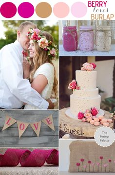 The Perfect Palette: Color Story   Berry Loves Burlap