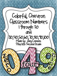 Step into 2nd Grade with Mrs. Lemons- Chevron  numbers