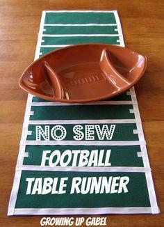 No sew football table runner.