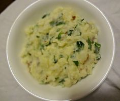 The Cooking Actress: Spinach and Garlic Mashed Potatoes