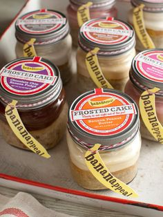 BANANAPPEAL - Frosted Cake Jars Sampler Pack....cute!