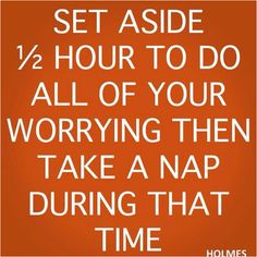 I love worrying this way...