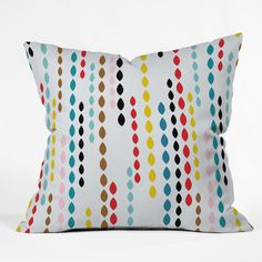 Khristian A Howell Nolita Drops Throw Pillow 16 x 16 Sample Sale | DENY Designs Home Accessories