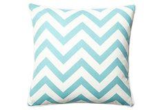 Chevron 20x20 Pillow, Clear Blue on OneKingsLane.com