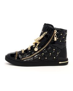 MICHAEL Michael Kors  Chain-Lace Quilted High-Top.