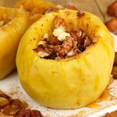 Honey Baked Apples with 10 Minute Stovetop Granola. Yum! #bakedapples #applerecipes #granola