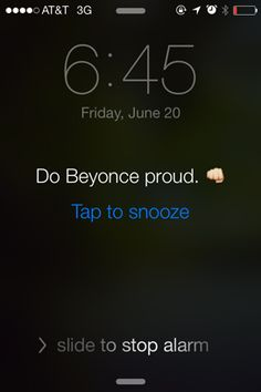 6 Emergency Work Motivation Wake Up Messages | Hey single ladies—even if you've been drankin' get out of bed for Bey.