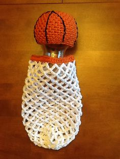 Ravelry: Basketball and Hoop Cocoon Set pattern by Judie Washburne