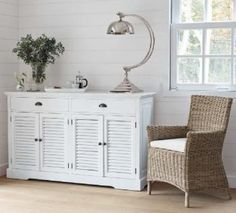 Decoration on pinterest shabby chic laundry rooms and - Meubles blancs style bord de mer ...