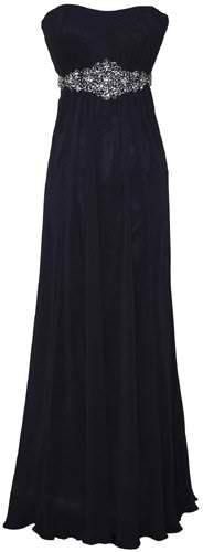 Goddess Empire Strapless Chiffon Gown w/ Rhinestone Belt. I don't know where if wear this but I want it.