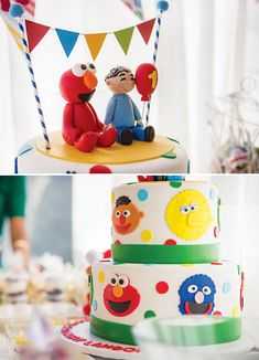{Adorable!} Backyard Sesame Street First Birthday Party