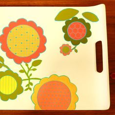 pop flower serving tray from lama
