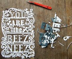 Paper-cut art by British designer and illustrator Julene Harrison.