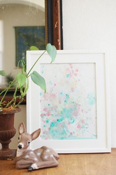 DIY: WATERCOLOR BUBBLE ART : CAKIES