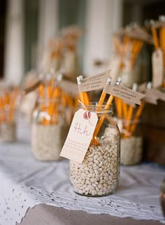 Meg Smith, pencil escort cards, alphabet escort cards, school-themed wedding